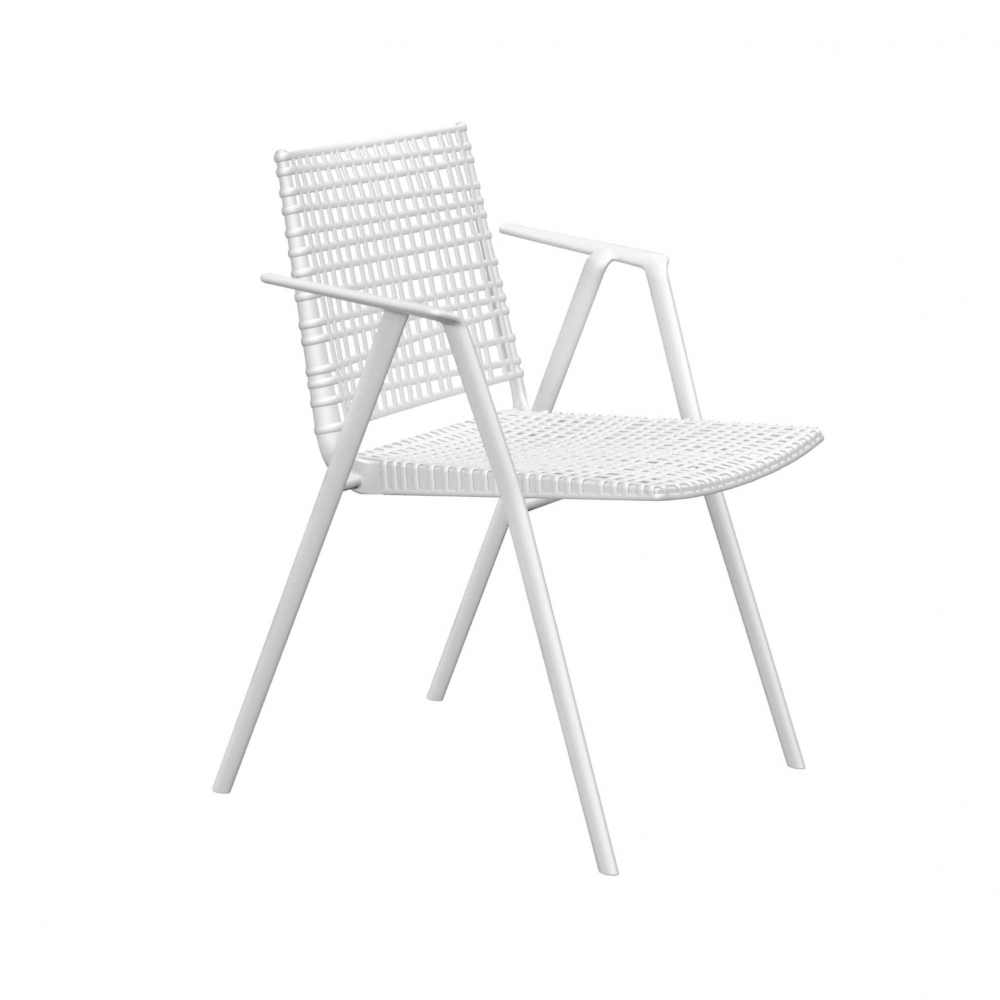 Tribù Branch chair with armrests