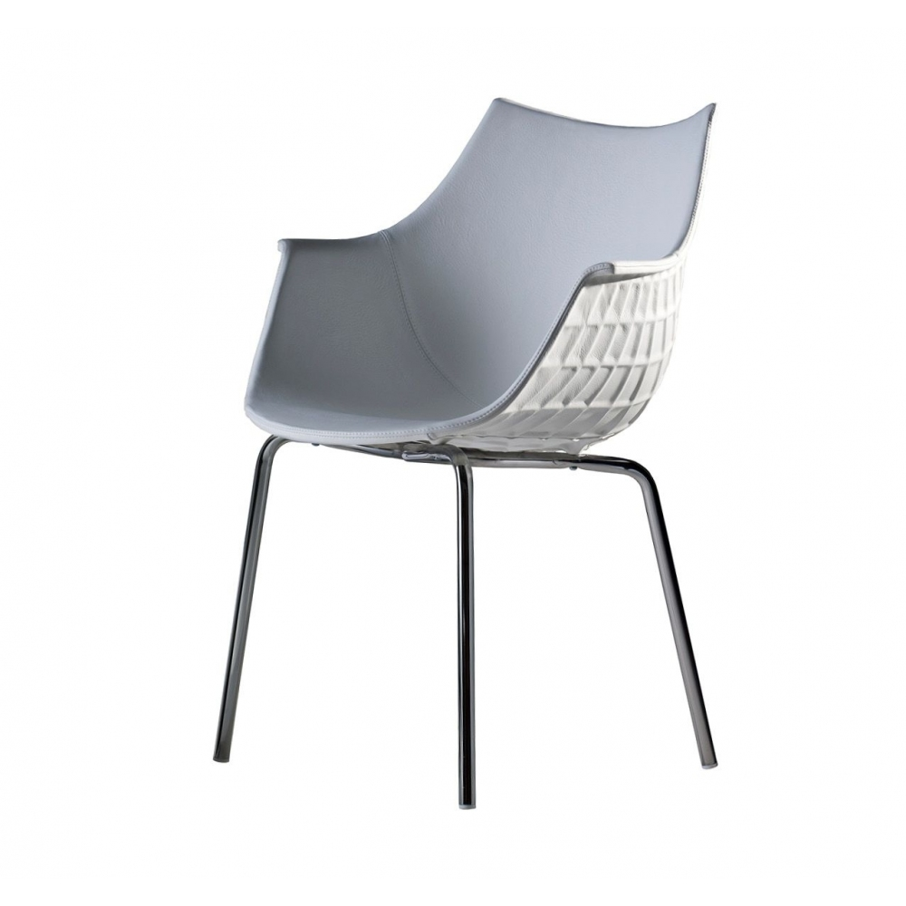 Driade Meridiana chair with chromed...